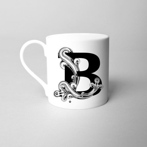 Si Scott 'B' Alphabet Initial Monogram Fine Bone China Mug.jpg
