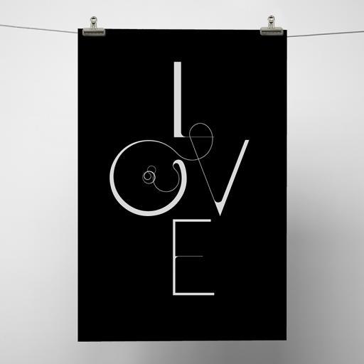 Black LOVE Print
