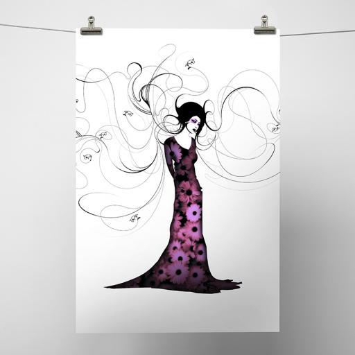 Floral Geisha Print