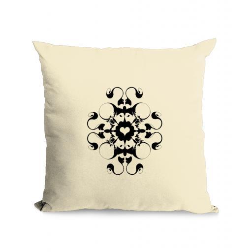 Heart Cotton Canvas Cushion