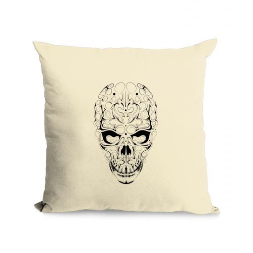 Skull Cotton Canvas Cushion