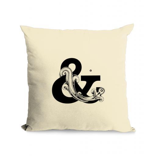 & Cotton Canvas Cushion