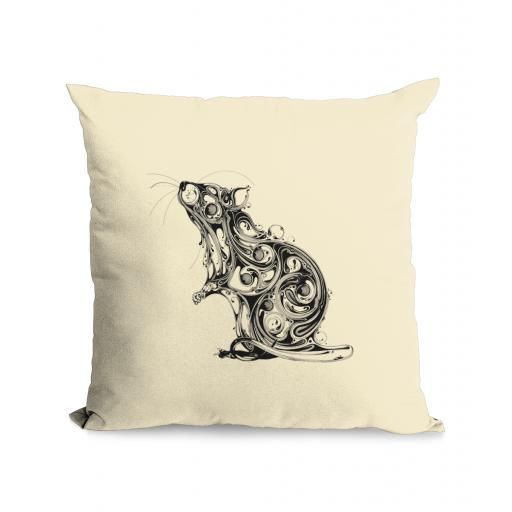 Rat Cotton Canvas Cushion