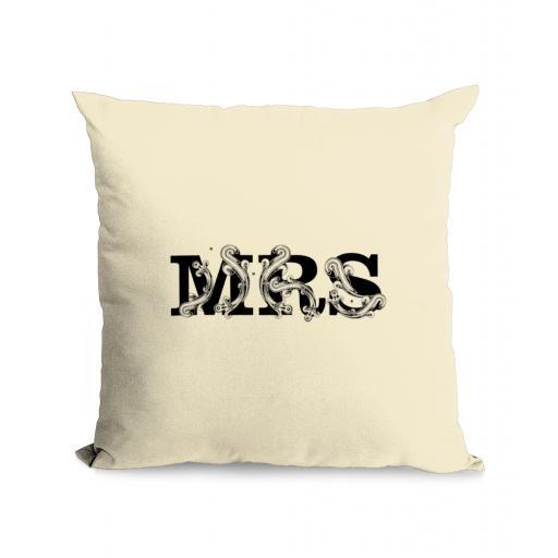 Mrs Cotton Canvas Cushion