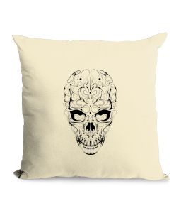 Skull Cotton Canvas Cushion.png