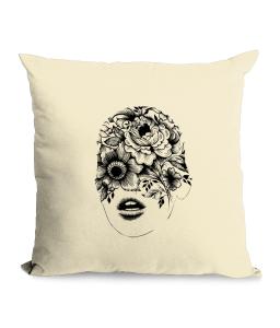 Floral Face Cotton Canvas Cushion.png